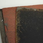 A damaged scrapbook