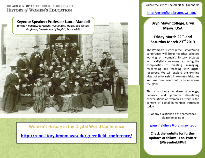 Women's History in the Digital World Conference POSTER