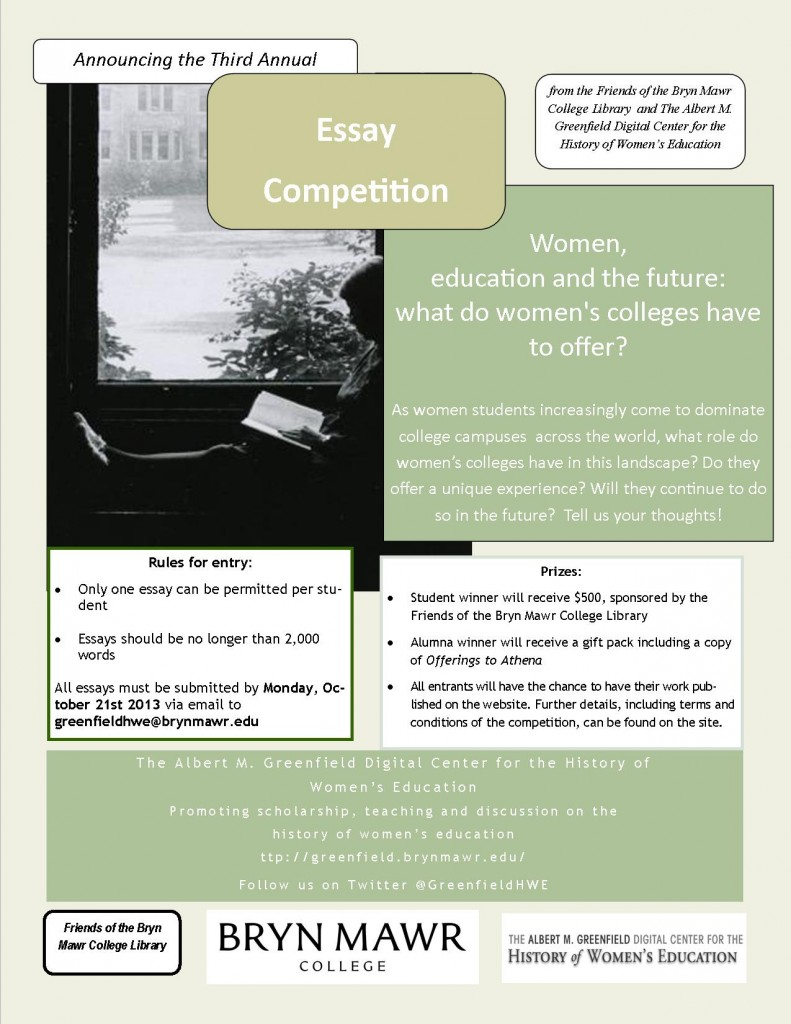 Essay Competition Poster 2013
