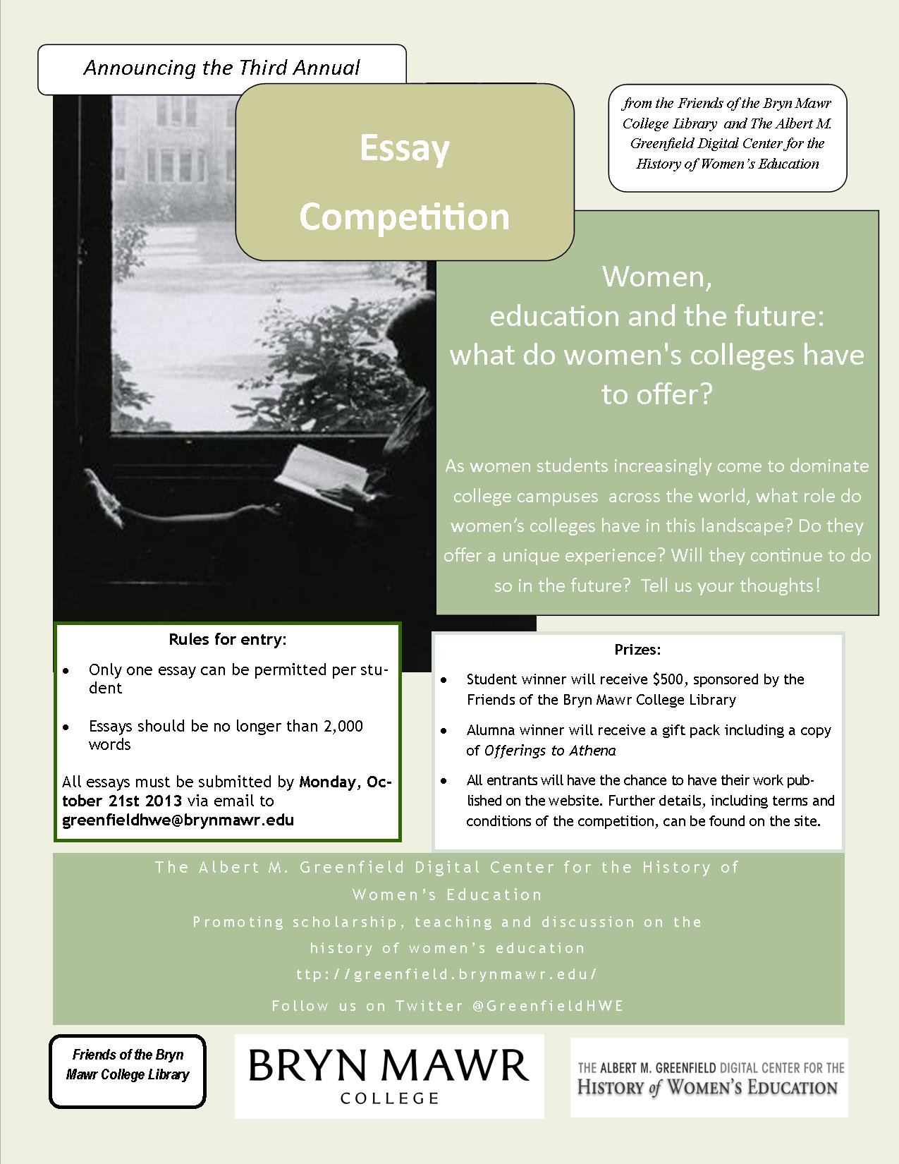 friends of the library educating women essay competition poster 2013