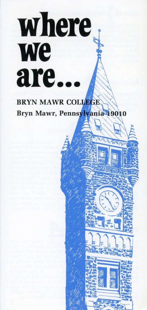 Bryn Mawr College driving directions (n.d.) in Bryn Mawr College Campus Maps on Triptych.