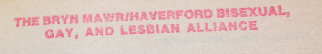 BGALA Library stamp, found in Lesbian Plays (New York: Methuen, 1987-1989), Canaday PR 1259.L47 L4 1987 v.2.