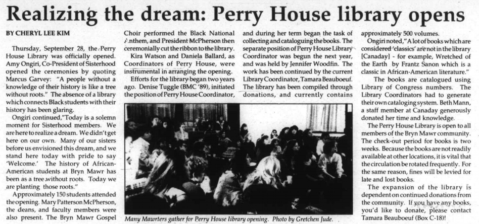 """Realizing the dream"" in The College News, 1989. Read the article here."