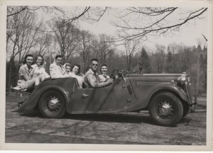Students Take a Drive, ca. 1940s, Mount Holyoke Archives and Special Collections via collegewomen.org.